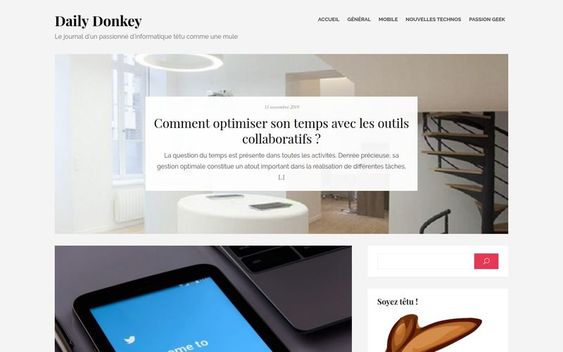 Daily Donkey - Le journal d'un passionné d'informatique têtu comme une mule
